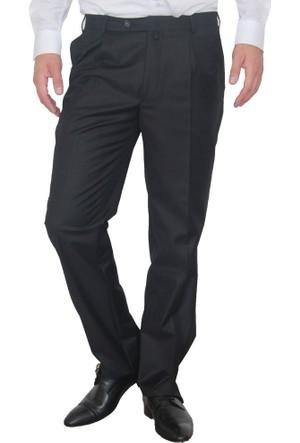 Akbaba Pileli Kumaş Pantolon Siyah