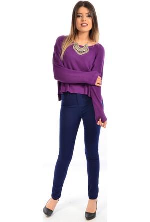 Zift Kadın Yüksel Bel Keten Pantolon