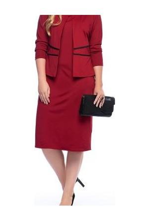 Melisita Kalpi Burgundy Jacket And Elbise