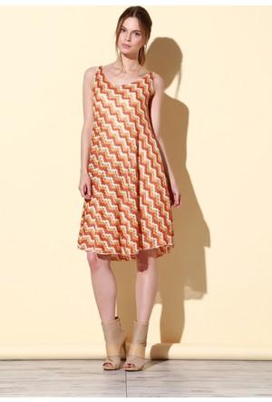 Quincey Verev Elbise Turuncu EB2478
