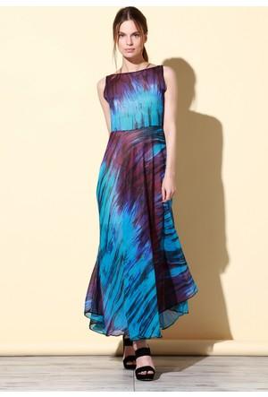 Quincey Şifon Elbise Mavi EB2475
