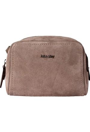 John May Sand Suede Gu- 7352 Leather John May Çanta