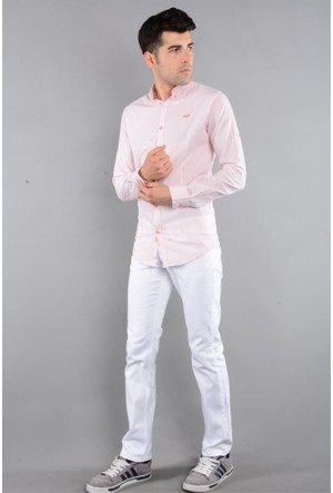 Rodin Hills Beyaz Erkek Gabardin Pantolon Likralı 5 Cep 6061