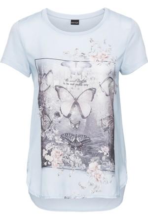 Bodyflirt Lila Baskılı T-Shirt