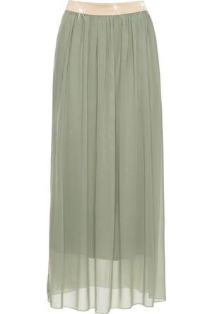 Bodyflirt Kadın Yeşil Uzun Etek