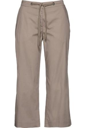 Bpc Bonprix Collection Kadın Kahverengi Yırtmaçlı Kapri Pantolon