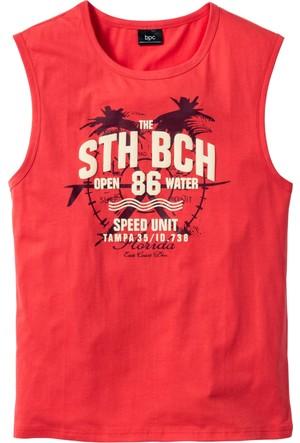 Bpc Bonprix Collection Kırmızı Kolsuz T-Shirt Regular Fit