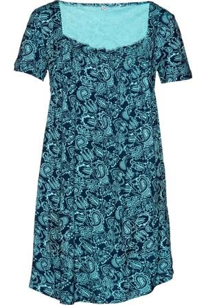 Bpc Bonprix Collection Kadın Mavi Yarım Kollu Penye Tunik