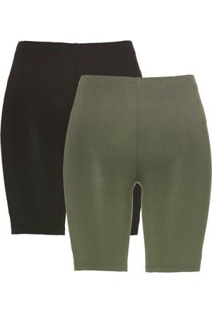 Bpc Bonprix Collection Yeşil Beli Lastikli Kısa Tayt