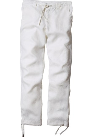 Bpc Bonprix Collection Erkek Beyaz Keten Pantolon