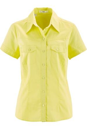 Bpc Bonprix Collection Sarı Kare Desenli Gömlek