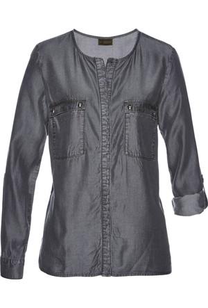 Bpc Selection Premium Gri Tencel Gömlek