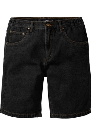 John Baner Jeanswear Siyah Cepli Jean Bermuda