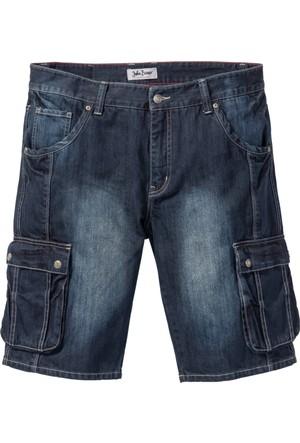 John Baner Jeanswear Siyah Kargo Bermuda