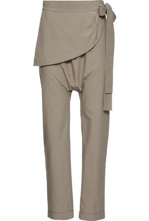 Rainbow Kahverengi Kruvaze Görünümde Harem Pantolon