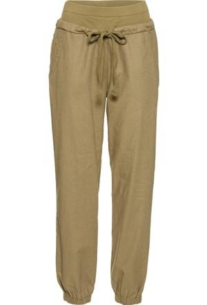 Rainbow Yeşil Keten İçerikli Pantolon