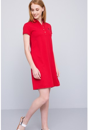 U.S. Polo Assn. Kadın Gurlin Elbise Kırmızı