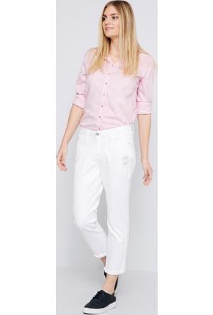 U.S. Polo Assn. Kadın Nena Kot Pantolon Beyaz