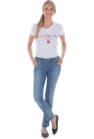 U.S. Polo Assn. Kadın Yikamali Pantolon Mavi