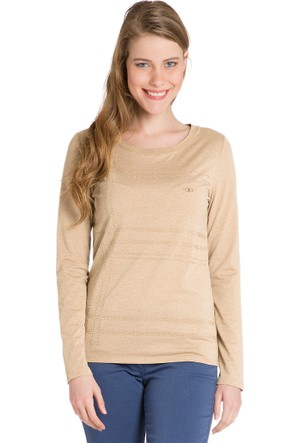 U.S. Polo Assn. Kadın Tersta Sweatshirt Bej