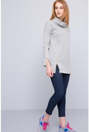 U.S. Polo Assn. Kadın Tuker-02 Sweatshirt Gri