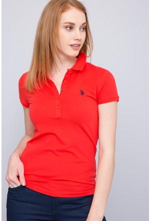 U.S. Polo Assn. Kadın Gtp-Iy07 Polo T-Shirt Kırmızı