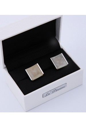 La Pescara Gri Gümüş Renk Kol Düğmesi Kd175