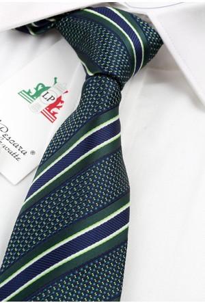 La Pescara Yeşil Çizgili Slim Kravat 5613