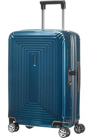 Samsonite Neopulse 55 cm Kabin Boy Valiz Mavi