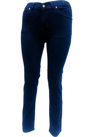 Osman Bey Kadın Büyük Beden jeans kot Pantolon Lacivert