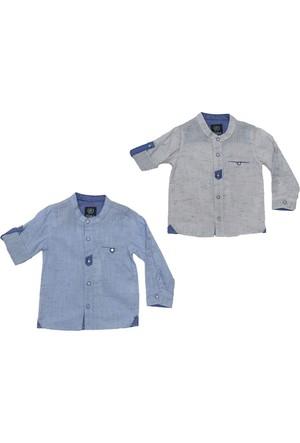Tımo Erkek Çocuk Hakim Yaka Katlama Gömlek