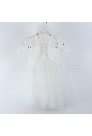 Chatondor Çocuk Abiye Elbise Bolero Kombinli 1 Yaş