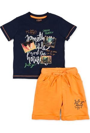 Losan Erkek Çocuk Penye Şort T-Shirt Takım 2 Yaş