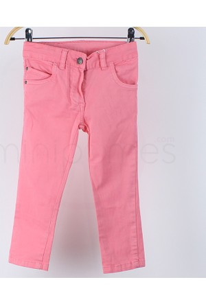 Losan Kız Çocuk Yazlık Kanvas Pantolon 7 Yaş