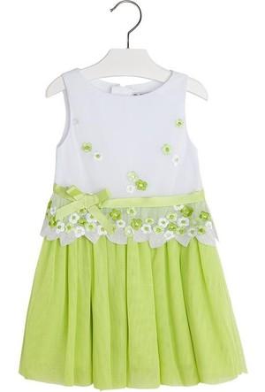 Mayoral Çocuk Elbise-Islemeli Tül 2 Yaş (92 cm)