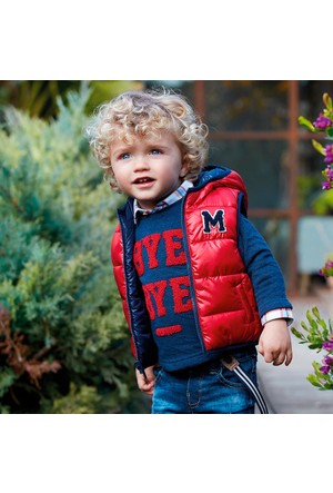 Mayoral Erkek Bebek Cıft Taraflı Dolgulu Yelek 12 Ay