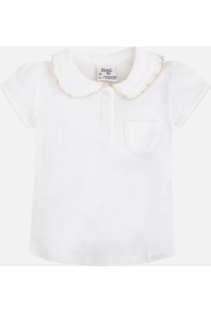 Mayoral Kız Çocuk Yakalı T-Shirt Kısa Kol 8 Yaş
