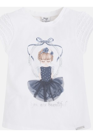 Mayoral Kız Çocuk T-Shirt Kısa Kol 2 Yaş