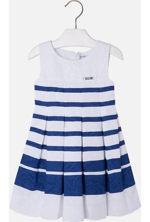 Mayoral Kız Çocuk Elbise Jakarlı Çizgili 3 Yaş