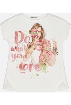 Mayoral Kız Çocuk T-Shirt Kısa Kol Kız Figür 14 Yaş