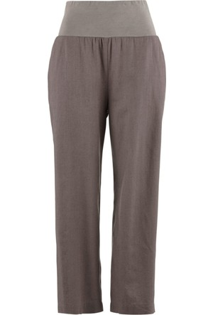 bonprix Gri Keten Model Pantolon 34-54 Beden