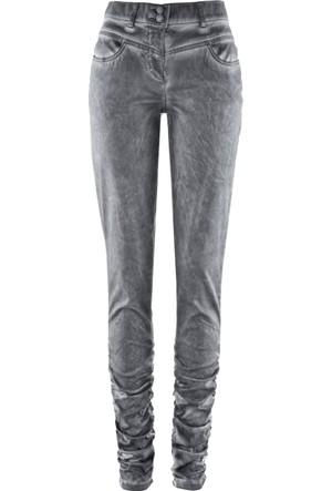 Bpc Selection Premium Kadın Gri Yağlı Yıkama Pantolon