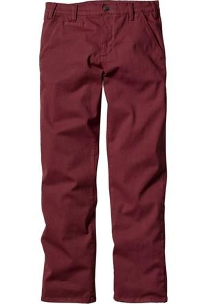 bonprix Kırmızı Streç Pantolon Slim Fit N-Beden 34-54 Beden