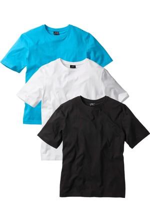 """bonprix Beyaz T-Shirt (3""""Lü Paket) 34-54 Beden"""