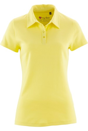 Bpc Bonprix Collection Sarı Polo Yaka Tshirt 34-54 Beden