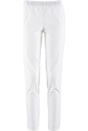 Bpc Bonprix Collection Beyaz Streç Tayt Dar Kesim Kısa 34-54 Beden