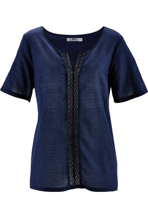 Bpc Bonprix Collection - Mavi Geniş Kesimli Bluz