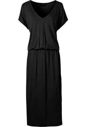 Bonprix Rainbow Midi Elbise Siyah