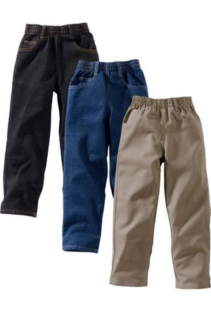 bonprix Bonprix John Baner Jeanswear Bol Pantolon (3'Lü Paket) Normal Yeşil