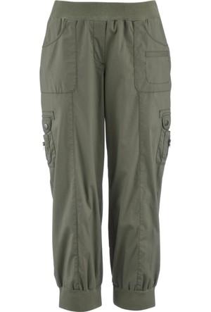 Bpc Bonprix Collection 3/4 Paça Kargo Pantolon Yeşil